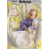 Butterick 3231 Sewing Pattern Baby Blankets ~ Butterick