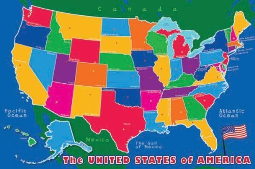 Crayola Chalk - USA Map - 1