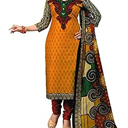 Shree Hari Creation Women's Poly Cotton Unstitched Dress Material (3612_Multi-Coloured_Free Size)