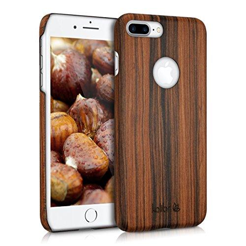 kalibri-Holz-Case-Hlle-fr-Apple-iPhone-7-Plus-Handy-Cover-Schutzhlle-aus-Echt-Holz-und-Kunststoff-aus-Lindenholz-in-Braun