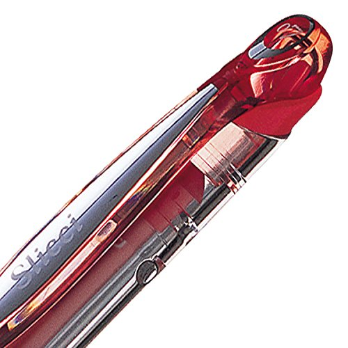 Pentel Slicci - Bolígrafo roller (0,7 mm, tinta de gel roja)