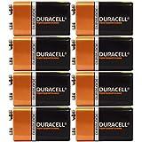 8 Count - Duracell MN1604 9V Volt 6LR61 Duralock Coppertop Alkaline Batteries