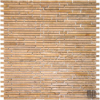 Montego Sela Crema Ivy Bamboo Stone Marble Honed Pattern Tile 12 x 12 In Kitchen Bathroom Backsplash