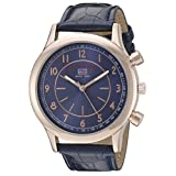U.S. Polo Assn. Sport Men's US5218 Rose Gold-Tone Watch with Blue Croco-Textured Strap