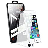 Shelfone ® Genuine Premium Protective Front Tempered Glass Screen Protector Guard Cover 9H Hardness 2.5D FOR VARIOUS MOBILE PHONES (APPLE IPHONE 5 5S SE )
