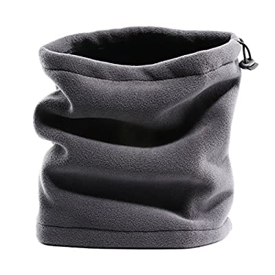 Fleece Neck Warmer Windproof Reversible neck Gaiter tube/Ear Warmer/Face Mask/Headband/Snood Beanie Scarf for indoor and outdoors, Versatility & Style