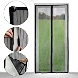Yookat Magic Heavy Duty Full Frame Velcro Mesh Hands-free Screen Door/ Magnetic Screen Door- Perfect to Keep Fresh Air in and Bugs out (82.67 x 37 Inch)