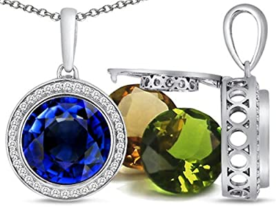 Switch-It Gems Pendant 12 Simulated Birthstones (choice of 12 colors)