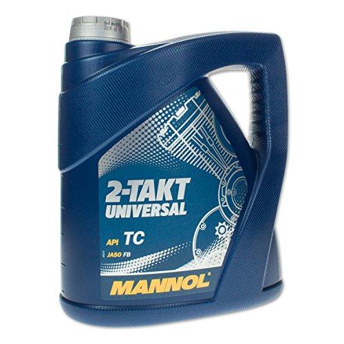 MANNOL 2Stroke Oil API TC Motor Oil, 4Liter