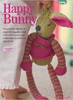 Happy Bunny toy bunny rabbit Knitting Pattern: Materiald Debbie Bliss Cotton ...