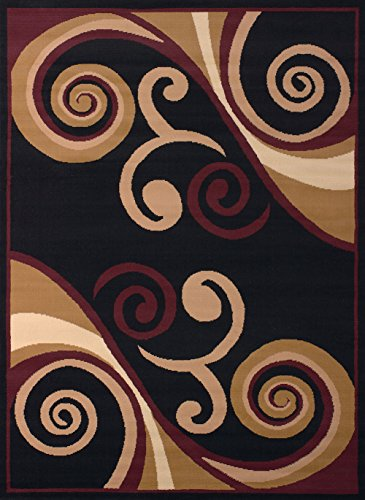 United Weavers of America Dallas Billow Rug, 5 x 8', Burgundy (United Weaver Rugs compare prices)
