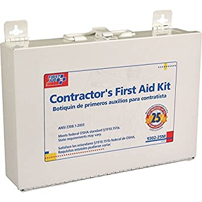 First Aid Only Contractor's First Aid Kit, Metal Case, 3.61 Pound by F