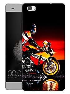 "Humor Gang Superbike Love Printed Designer Mobile Back Cover For ""Huawei P8"" (3D, Matte, Premium Quality Snap On Case)"