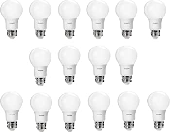 16-Pack Philips Daylight A19 LED Light Bulbs