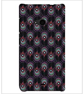 PrintDhaba Pattern D-5462 Back Case Cover for MICROSOFT LUMIA 535 (Multi-Coloured)