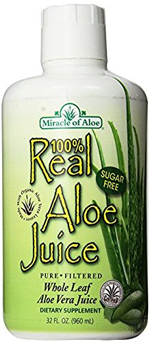 Real Aloe 100% Pure Aloe Juice - 1 Qt Made From Organically Grown Aloe Vera Leaves 100% Purified & Filtered (Organic Raw Aloe Vera Juice compare prices)