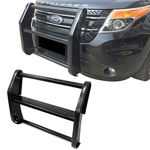 11-15 Ford Explorer Police Interceptor Black Front Push Bar Bumper Grille Guard (Grille Guard Ford Explorer compare prices)