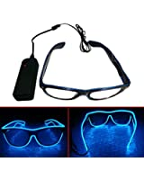 Enjoydeal Special Shutter Light up EL Wire Glow Shades Party Bar Eye-wear Glasses Sunglasses