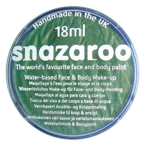 Snazaroo Face Paint Individual Color, 18Ml, Electric Green Metallic