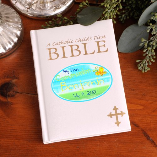 Personalized Sunshine First Communion Catholic Children's Bible