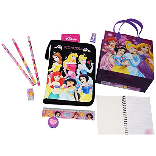 LIMITED-EDITION-Disney-Princess-Back-to-School-Bundle-in-Adorable-and-Durable-Gift-Bag-3-Items-Beautiful-Detailed-Planner-8-Piece-Stationary-Set-3-Colors-Assortments-May-Vary