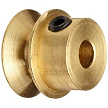 "Boston Gear G1214 Grooved Pulley, Fits Round Belts 0.1875"" or Smaller, 0.250"" Face, Brass"