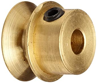 """Boston Gear G1214 Grooved Pulley, Fits Round Belts 0.1875"""" or Smaller, 0.250"""" Face, Brass"""