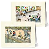 Vintage Crazy Cats - 36 Note Cards for $9.99 with 12 Different Images Including Tan Envelopes