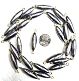 3/4 oz In Line Trolling (Cigar) Sinkers - 25 Pack - 2 Eyes - Drifting, Trolling, etc. - #ILTS34-25