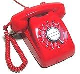 電電公社 600-A ダイヤル式電話機 (黒電話/カラー電話) (あか)