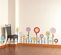 Flower Lollipop-1 - Wall Decals Stickers Appliques Home Decor by Blancho Bedding