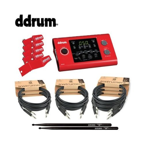 Ddrum Jf-Dd1M-Rs-Kit-1 Dd1 Drum Module And Redshot Trigger Pack With Planet Waves Cables And Vic Firth/Godpsmusic Drumsticks