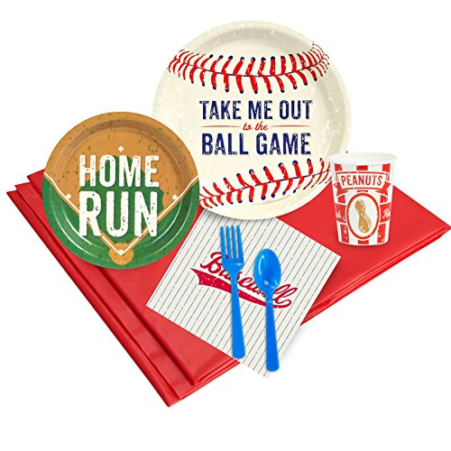 Baseball Time Party Supplies - Party Pack for 8