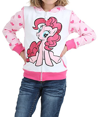 My Little Pony Little Girls Pinkie Pie Heart Zip-Up Hoodie (Juvy Small/4) (Hoodie Pinkie Pie compare prices)