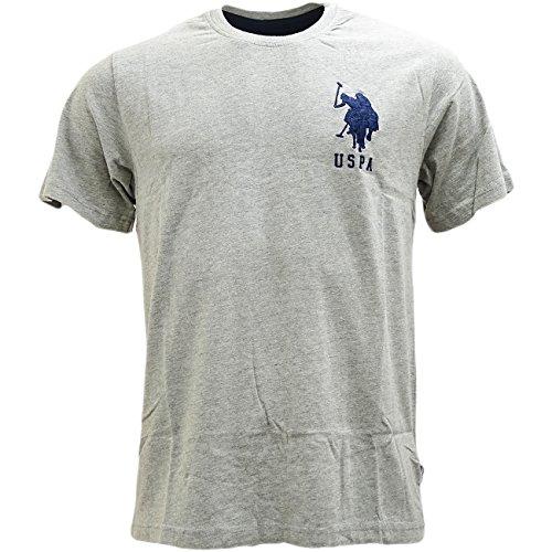 us-polo-assn-t-shirt-uni-manches-courtes-homme-gris-small
