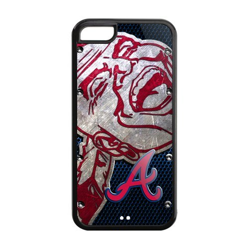 Christmas Gifts Top Design MLB Atlanta Braves Iphone 5C Plastic And TPU Silicone Back Case Snap On at Amazon.com