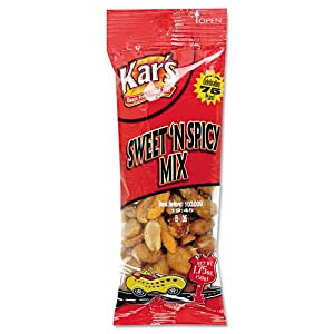 Kars Products - Kars - Nuts Caddy Sweet N Spicy Trail Mix 175 Oz Bags 24 Bagspack - Sold As 1 Pack - Quality Nut And Snack Items - Packaged In Single-serving Size Packets - by Kar's Products