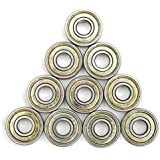 Alcoa Prime 10Pcs 8X22X7mm Carbon Steel ABEC-7 608zz Very Durable Ball Bearings Wheels Roller Skateboard Electronics...