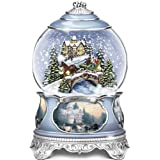 Thomas Kinkade Jingle Bells Christmas Musical Snowglobe by The Bradford Exchange