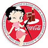 Vandor 60089 Betty Boop and Coke Cordless Wood Wall Clock, Multicolored
