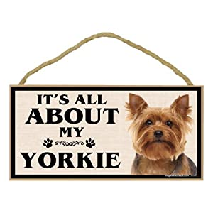 Imagine This Wood Breed Sign, It's All About My Yorkie
