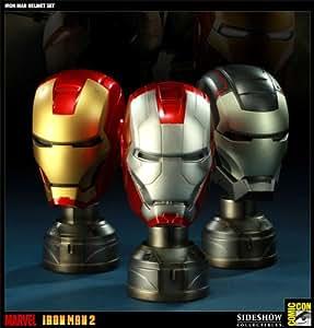 Iron Man The Movie 1/3 Scale Helmet Set (3) w/ LED-Light Comic Con 2011 exclusive