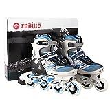 Adjustable Inline Skates for Kids Boys Girls, Durable PU Wheels Rollerblades Safe and Durable Roller Skates [US Stock] (Blue, 36~39)