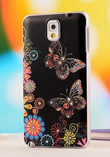 Nancy'S Shop Colorful Painting Style 3D Hard Cell Phone Accressories Case And Covers For Unlocked Tmobile Samsung Galaxy Note 3 Iii (Butterfly)