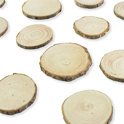 Mini assorted size natural color tree bark wood slices for Wood trunk slices