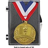 Academic Excellence Medal Set (Sold in Sets of 50) (Color: Red, White, Blue, Gold, Tamaño: Medal is 1.75