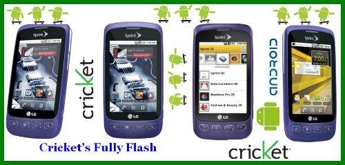 Purple LG Optimus S LS670 Andoid Cricket's Fully Flash phone