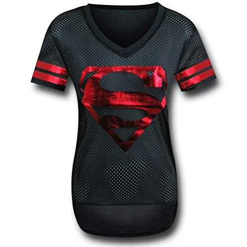 Superman Black Hockey Women's T-Shirt