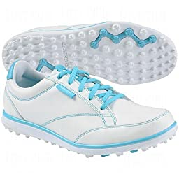 Ashworth Ladies Cardiff Adc Golf Shoes White/Turquoise 6