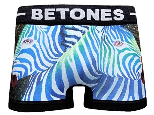 (ビトーンズ)BETONES フジヨシブラザーズ FUJIYOSHI Brother's-BFU001/ブルー/ZEBRA ボクサーパンツ F